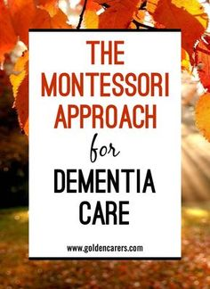 Finding activities that people living with dementia are able to participate in and enjoy can be challenging. The Montessori for dementia approach seeks to engage the senses and evoke positive emotions. It involves stimulation of the cognitive, social, and Activities For Dementia Patients, Alzheimers Activities, Elderly Activities, Senior Activities, Therapy Activities, Spring Activities, Daily Activities, Cognitive Activities, Montessori Activities