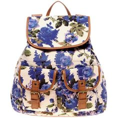 Aldo Menches Floral Backpack, found on polyvore.com