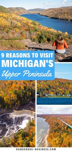 Here's why Michigan's Upper Peninsula should be on your travel bucket list! Things to do in Michigan in the Upper Peninsula. This is by far one of my favorite travel fall destinations in the US. This trip is epic and filled with hiking, tourist attractions and great lakes. Find out all the reasons why you cant miss this US destination! #Michigan #USATravel #FallInspiration Us Travel Destinations, Amazing Destinations, Places To Travel, Vacation Places, Usa Travel Guide, Travel Usa, Travel Tips, Places In Usa, Famous Waterfalls