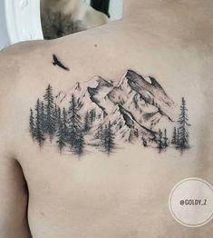 40 Landschafts Tattoo Ideen - Tattoo Motive 40 landscape tattoo ideas And Body Art Trendy Tattoos, Cute Tattoos, Beautiful Tattoos, Body Art Tattoos, New Tattoos, Sleeve Tattoos, Tattoos For Women, Tattoos For Guys, Tatoos