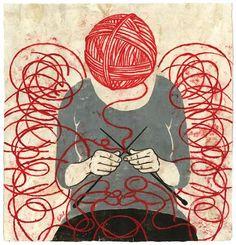 Descubre la colección de kits para tejer lana y algodón de WE ARE KNITTERS o compra por separado ovillos de calidad a buen precio. Knitting Quotes, Knitting Humor, Knitting Projects, Knitting Patterns, Knitting Wool, Knitting Ideas, Knitting Needles, Gravure Illustration, Illustration Art