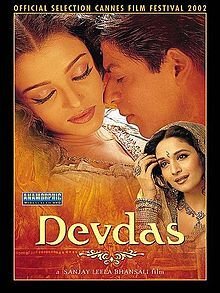 Devdas (2002 film) - Aishwarya Rai and Maduri Dixit prove once again that they are not just pretty faces...these gals can dance! Frankly, that's the only reason I would consider watching this again. That and the beautiful saris. There are no happily ever afters in this film.  For anyone.