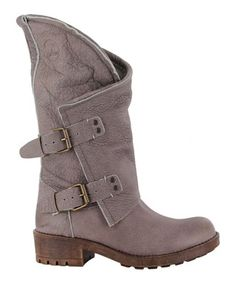 Taupe Alida Leather Boot