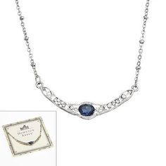 Downton Abbey® Silver Tone Simulated Crystal Collar Necklace