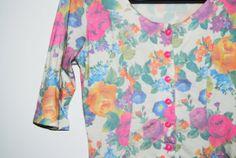 Amazing Vintage Floral Summer Dress