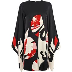 Satin Kimono Sleeve Mini Dress Alexander McQueen   Mini Dress   Dresses  