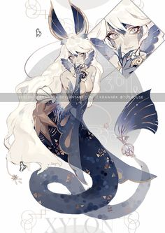 Xylon Auction-Northern pulse [closed] by Krawark on DeviantArt Fantasy Character Design, Character Design Inspiration, Character Art, Mermaid Drawings, Mermaid Art, Anime Mermaid, Creature Concept Art, Creature Design, Mythical Creatures Art