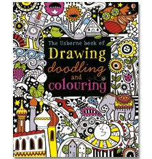 The Usborne Book of Drawing, Doodling and Colouring <3