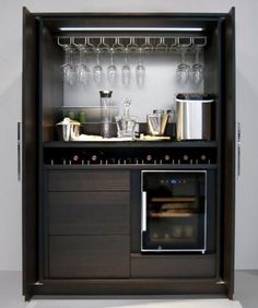 Trendy Home Bar Small Doors Home Bar Rooms, Home Bar Decor, Mini Bars, Mini Bar At Home, Small Bars For Home, Bar Furniture For Sale, Furniture Ideas, Discount Furniture, Furniture Outlet