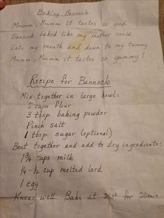 needed to bake for 40 minutes for an inch and a half to a two inch pre baking height and left covered with foil to rest for 15 minutes Scottish Recipes, Irish Recipes, Old Recipes, Vintage Recipes, Indian Food Recipes, Bread Recipes, Cooking Recipes, Bannock Recipe Fried, Kitchens