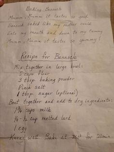 Baked Bannock Recipe. Best one