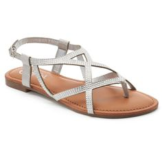 Candie's® Women's Strappy Thong Sandals