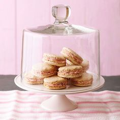 Make these Lemon Macarons with Cranberry-Mascarpone Filling for your loved ones! More Valentine's Day recipes: http://www.bhg.com/holidays/valentines-day/recipes/valentines-day-dessert-recipes/