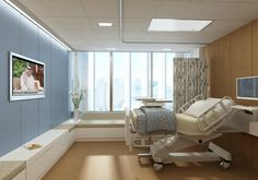 Image 2 of 24 from gallery of Sheikh Khalifa Medical City in Abu Dhabi / SOM. General Patient Room © SOM