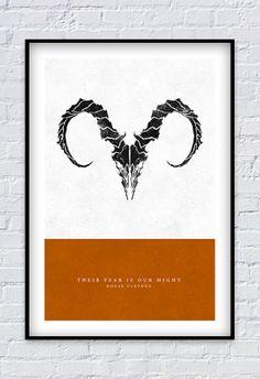 "$20  Game of Thrones - House Ulryden print 11X17"""