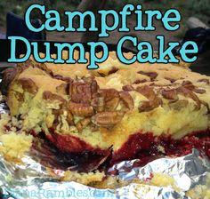 Campfire Dump Cake done in a Dutch Oven from DianaRambles.com
