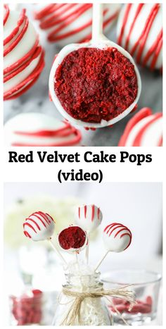 The easiest and fuss-free red velvet cake pops recipe! These delicious treats will be the hig… How to Make Cake Pops Bolo Cookies And Cream, Cake Mix Cookies, Cookies Et Biscuits, Cupcakes, Cake Truffles, Chocolate Chip Cookies, Chocolate Cookie Recipes, Chocolate Cake Pops, White Chocolate