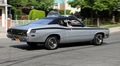 Silver Plymouth Duster 340