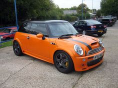 MINI Cooper S #orange--My husband said this is a close as I can get to one--boohoo