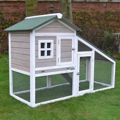 Grey Bunny Ark Rabbit Hutch Guinea Pig House Cage Pen With Built In Run #rabbithutch #rabbit #bunnyhouse http://www.feelgooduk.net/pet-products/rabbit-hutches-and-runs/ark-rabbit-hutch-guinea-pig-house-cage-pen-with-built-in-run.html