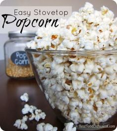 This easy stovetop recipe is the BEST way to make popcorn! You won't miss the artificial taste of bagged popcorn ever again!
