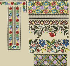 Folk, Cross Stitch, Embroidery, Quilts, Blanket, Pattern, Crafts, Dots, Needlepoint