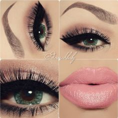 Beautiful Pink & Green Eyemakeup ideas #Beauty #Trusper #Tip