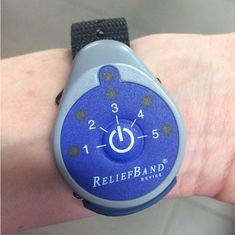 A wrist band that helps you alleviate morning sickness simply by wearing it.