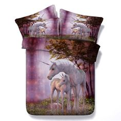 3d bedding beautiful flower bedding sets horse sheet duvet cover set unisex #1608 3d Bedding(US Size)