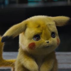 Yay, first trailer of Detective Pikachu! I was lucky to work for some Pokémons in Check the first trailer… Pikachu Pikachu, Pikachu Memes, Cute Disney Wallpaper, Cute Cartoon Wallpapers, Pokemon Backgrounds, Baby Animals, Cute Animals, Gif Animé, Cute Creatures