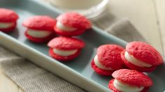 Relish the cream cheese filling between the sandwich cookies baked using Bisquick® mix – perfect dessert for your guests.