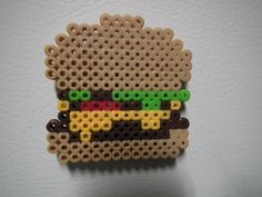 Hamburger perler beads Magnet by blargofdoom on deviantart