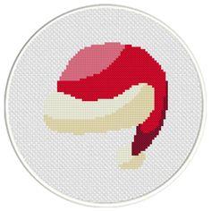 FREE Santa Hat Cross Stitch Pattern