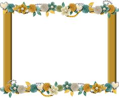 Yellow Floral Cluster Frame