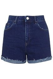 TOPSHOP - MOTO Indigo Girlfriend Shorts