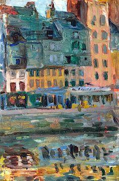 huariqueje:    Le Bassin du Roy au Havre - Raul Dufy 1907 French 1877-1953 oil on panel, 33,0 x 26,7 cm.