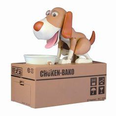 Electric Music Money Saving Box House for Boys Girls Christmas Gifts KOBWA Music Cute Puppy Stealing Coin Money Box Dog Piggy Bank
