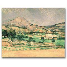 Trademark Fine Art Montagne Sainte-Victoire, 1882-85 inch Canvas Wall Art by Paul Cezanne, Size: 18 x 24, Multicolor