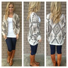 Aztec Cardigan from Dainty Hooligan. Their clothes are super cute!!