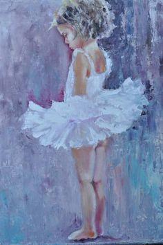 """Saatchi Art Artist Julia Kovalenok; Painting, """"Little ballerina SOLD"""" #art"""