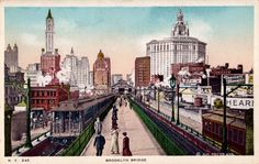 new york city postcards | Brooklyn Bridge, New York City