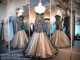 Black/Nude Mermaid Prom Dress - Rsvp BP - Long Gown - Rsvp Prom and Pageant - 3