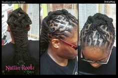 Locs,palm rolled and styled at the Nubian roots by toya salon