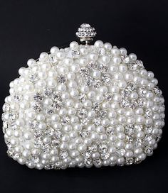@Kathleen DeCosmo ♡♡♡♡ Faux Pearl and Rhinestone Evening Clutch