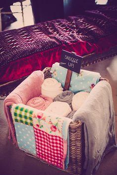 Blankets Basket Glastonbury Festival Garden Party Wedding http://www.tommyreynoldsweddings.co.uk/