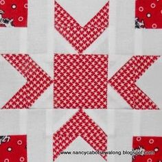"""Moore About Nancy: Merry Kite 6"""" quilt block pattern by Nancy Cabot at Moore About Nancy blog"""