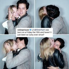 is already super adorable, and yet somehow Lili Reinhart and Cole Sprouse are even cuter. is already super adorable, and yet somehow Lili Reinhart and Cole Sprouse are even cuter. Kj Apa Riverdale, Riverdale Netflix, Riverdale Funny, Riverdale Memes, Riverdale Cast, Dylan Sprouse, Cole Sprouse Hair, Cole Sprouse Funny, Entertainment Weekly