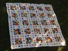 The possibilities for scrap quilt designs are endless with the Film at Five Scrap Quilt Pattern. This clever pattern makes colorful bed quilts with scraps. Strip Quilts, Patch Quilt, Scrappy Quilts, Baby Quilts, Quilt Blocks, 24 Blocks, Rag Quilt, Quilting Tutorials, Quilting Projects