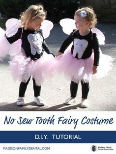 No Sew Tooth Fairy Costume is so easy - much of the items you can buy at most big box stores. Customize your colors.