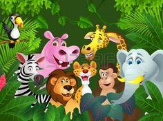Illustration de dessin anim� des animaux photo